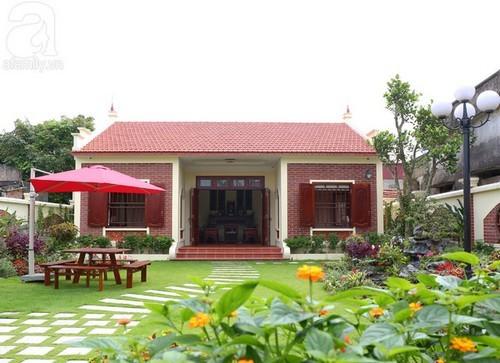 Ngắm ngôi nhà xanh mướt với chi phí sân vườn lên tới 500 triệu ở thành Nam