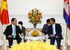 Chủ tịch nước và Thủ tướng Campuchia nhất trí nhiều vấn đề quan trọng
