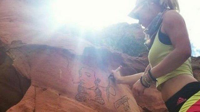 vẽ bậy, mạng xã hội, cô gái trẻ lĩnh án, phá hoại tài sản quốc gia, Casey Nocket