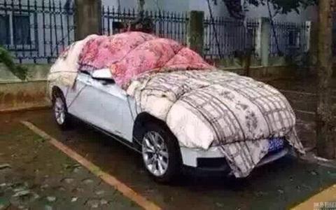 Tránh mưa đá, nhà giàu trùm chăn, che xốp cho xe hơi