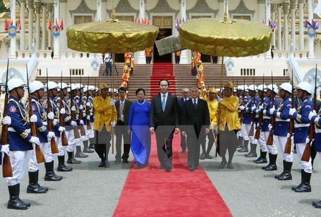 Quốc vương Campuchia, Preah Bat Samdech Preah Boromneath Norodom Sihamoni, Chủ tịch nước Trần Đại Quang, hiệp ước về biên giới