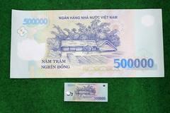 Tờ tiền 500.000 đồng kích thước khủng giá 5 triệu ở Sài Gòn