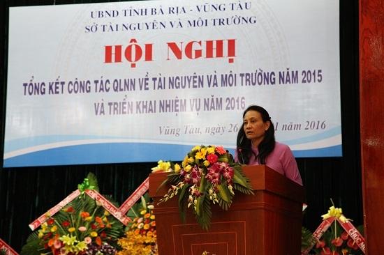 Giám đốc sở TN&MT tỉnh Bà Rịa -Vũng Tàu, bà Lê Thị Công Công, nghỉ việc đột ngột