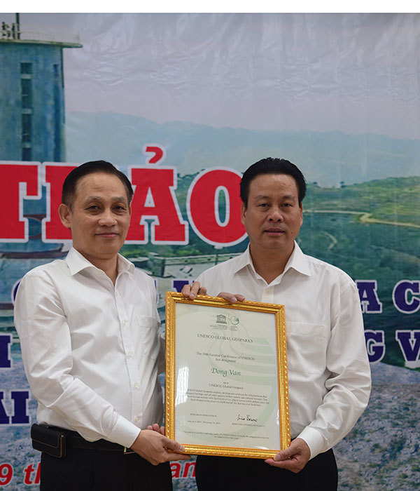 Cao nguyên đá Đồng Văn chính thức nhận danh hiệu của UNESCO