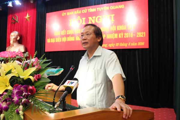 Bộ trưởng TT&TT dự tổng kết bầu cử tại Tuyên Quang