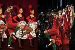 Ronaldo sải bước trên sàn catwalk, khiêu vũ cùng chân dài