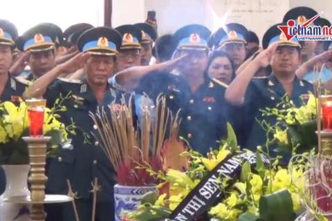 Lễ tang phi công Trần Quang Khải ở Đài hóa thân Hoàn vũ