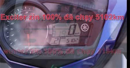 Honda Winner và Yamaha Exciter đua tốc độ trong đêm
