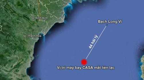 Chuẩn bị trục vớt hộp đen nghi của máy bay CASA 212