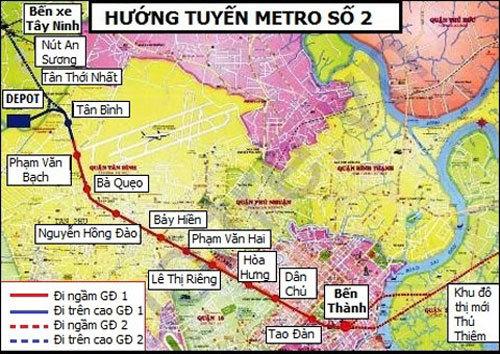 Nhà ga metro Bến Thành sẽ hoạt động vào năm 2020
