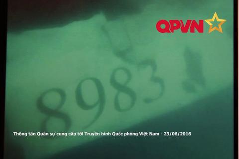 Những hình ảnh đầu tiên của CASA 8983 dưới đáy biển
