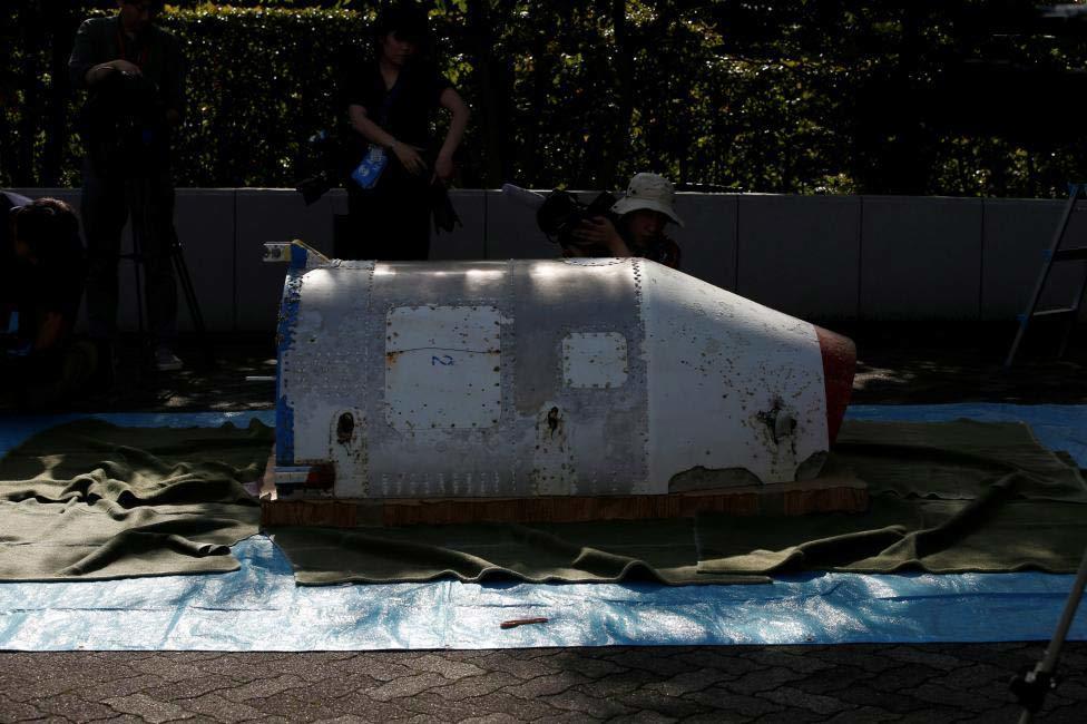 Hình ảnh mảnh vỡ nghi của tên lửa Triều Tiên