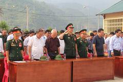 Khánh thành nhà tưởng niệm anh hùng liệt sĩ mặt trận Vị Xuyên