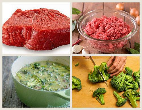 Trứng gà, phô mai, thịt bò, súp lơ, biếng ăn, tăng cân,