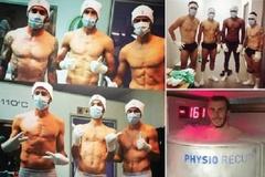 """Sao Italia, Bồ Đào Nha gây bão ở """"phòng tắm hơi sexy"""""""