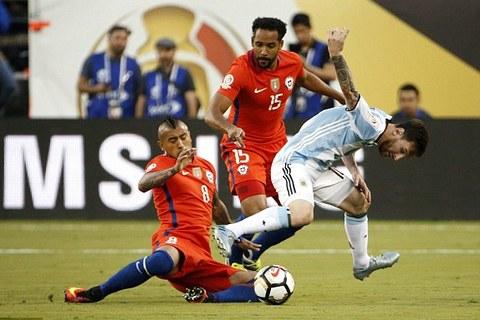 Video tổng hợp trận Argentina 0-0 Chile (pen 2-4)