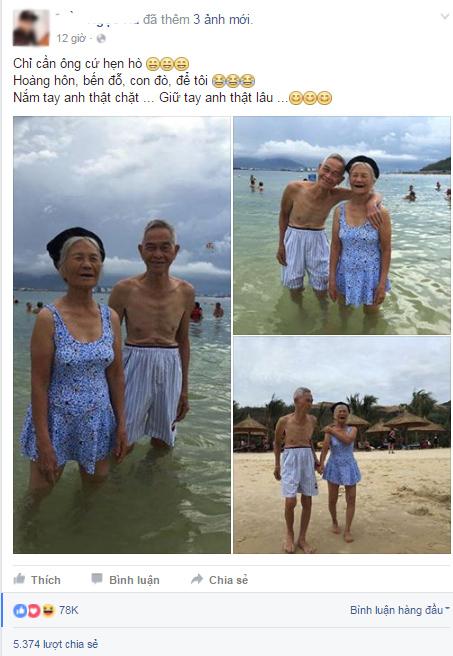 Bức ảnh cụ bà 87 tuổi mặc áo tắm thu hút triệu người xem