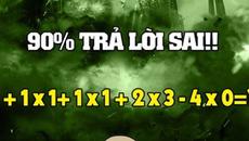 Bài toán đơn giản, 90% người giải sai