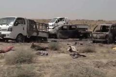 Xem Mỹ bắn tan nát đoàn xe hàng trăm lính IS
