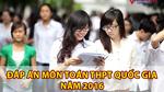 Đáp án đề thi môn toán tốt nghiệp THPT Quốc gia năm 2016
