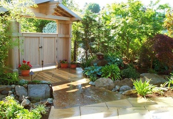 Gia đình hạnh phúc,phát tài nhờ thiết kế sân vườn đúng phong thủy
