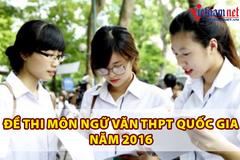 Đề thi môn văn THPT quốc gia năm 2016