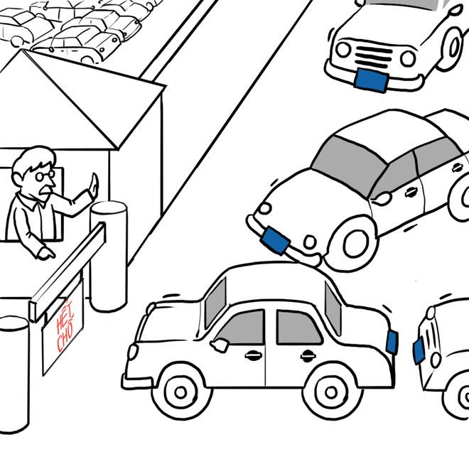 Hí họa: Xe công - mua dễ, quản khó?