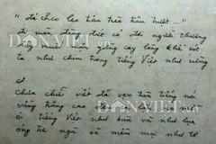 Tiết lộ bản thảo bài thơ 'Tiếng Việt' của Lưu Quang Vũ