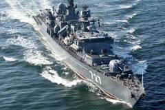 Tàu chiến Nga, Mỹ vờn nhau trên biển