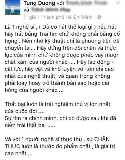 Tùng Dương, Hương Hồ đăng đàn gây tranh cãi