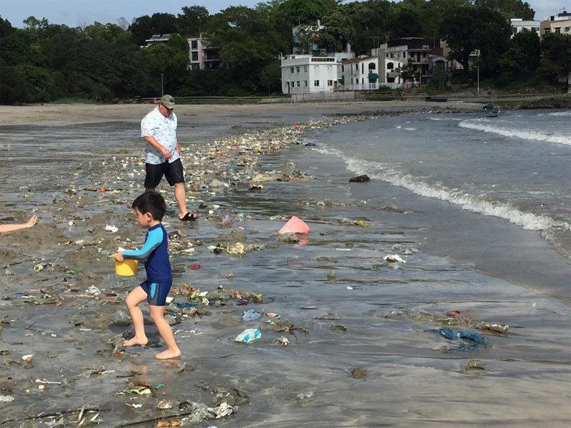 Hong Kong, Trung Quốc, đại lục, rác thải, bãi biển, kinh hoàng, đổ bộ, tập kết