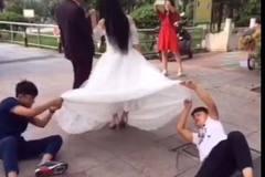 """Cười """"bể bụng"""" với hậu trường chụp ảnh cưới"""