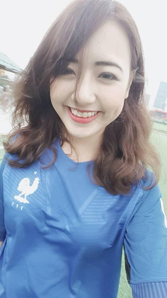 Hot girl Charmmie Vũ Quỳnh Anh, đội tuyển Pháp, Bồ Đào Nha, EURO 2016