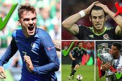 Gareth Bale bị gạt khỏi đội hình tiêu biểu EURO 2016