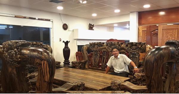 Bô bàn ghế mun 1,7 tỷ đồng, bộ bàn ghế khủng, bàn ghế đại gia, đại gia sài thành