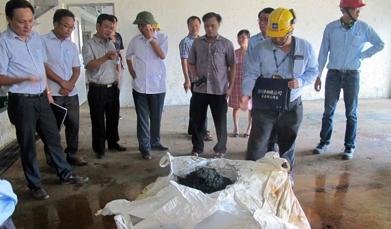 chôn chất thải Formosa, giám đốc môi trường kỳ anh, Formosa, lê quang hòa