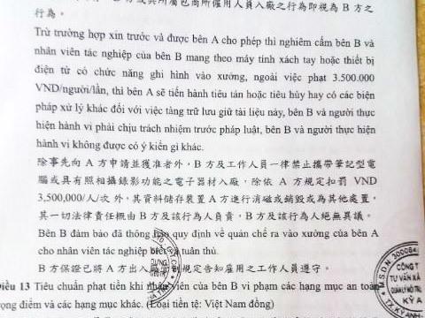 Hợp đồng vận chuyển chất thải giữa Formosa và công ty ông Hòa