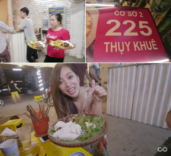 Clip: Nữ triệu phú Youtube ca ngợi ẩm thực vỉa hè Việt Nam