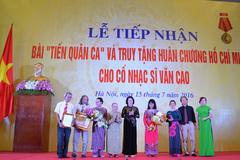 """Gia đình Nhạc sĩ Văn Cao hiến tặng """"Tiến quân ca"""""""