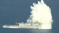 Xem hải quân Mỹ ì ạch đánh chìm tàu chiến
