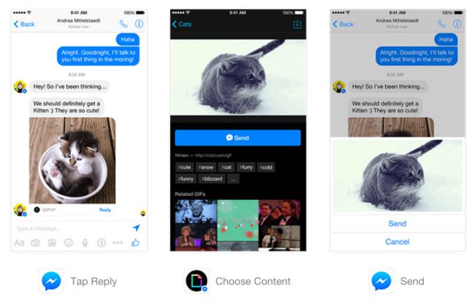 Facebook, Messenger, SMS, KakaoTalk, LINE, WeChat, WhatsApp, Facebook Messenger