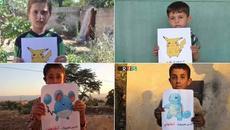 Trẻ em Syria cầm ảnh Pokemon cầu xin giải cứu