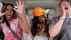 Đệ nhất phu nhân Mỹ hát karaoke trên xe hơi