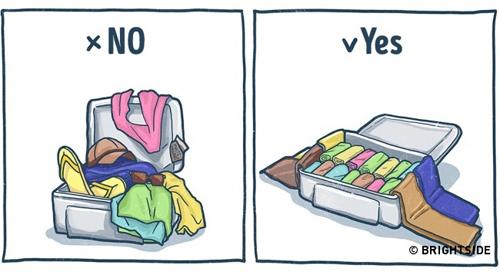 mẹo, du lịch, valy, quần áo,