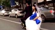 10 clip 'nóng': Cô dâu ngã tuột xuống đường, chú rể bỏ đi
