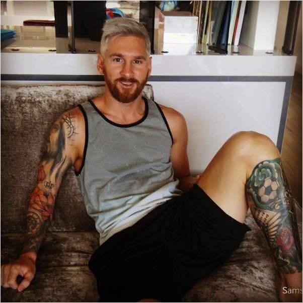 Giật mình với bộ dạng mới của Messi