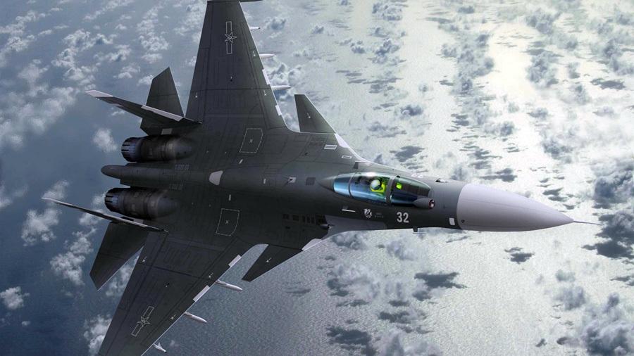 Chiến đấu cơ, J-11, máy bay chiến đấu J-11, Sukhoi Su-27, đảo Phú Lâm, Hoàng Sa, Biển Đông