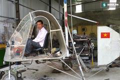 Cận cảnh chiếc trực thăng lắp ráp... từ xe máy Attila ở Nghệ An