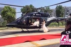 Đón dâu bằng trực thăng: Sự thật không hề lãng mạn như trên ảnh