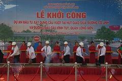 Khởi công cầu vượt nút giao đường Cổ Linh - Vĩnh Tuy